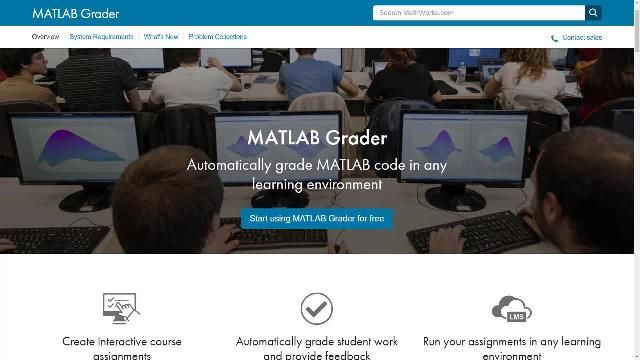 Create autograded MATLAB® assignments using MATLAB Grader. Build MATLAB coding problems and store them in collections. Host courses for students on MATLAB Grader, or include MATLAB based assignments in your Learning Management System based course.
