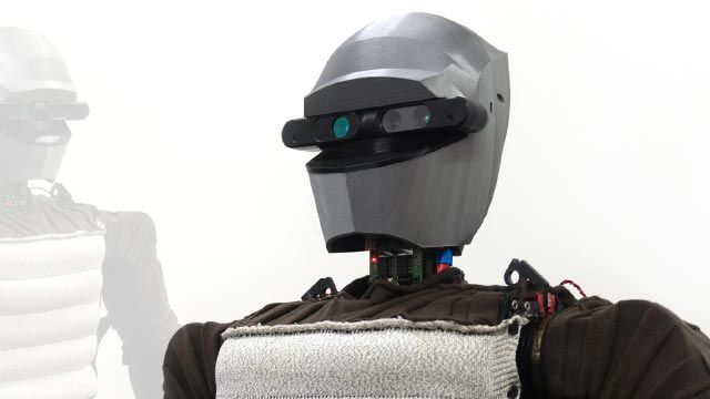 Fabric with embedded circuitry gives robots haptic sensing