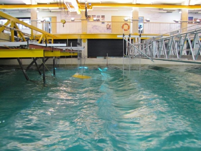 Figure 5. The scale prototype in the wave tank.