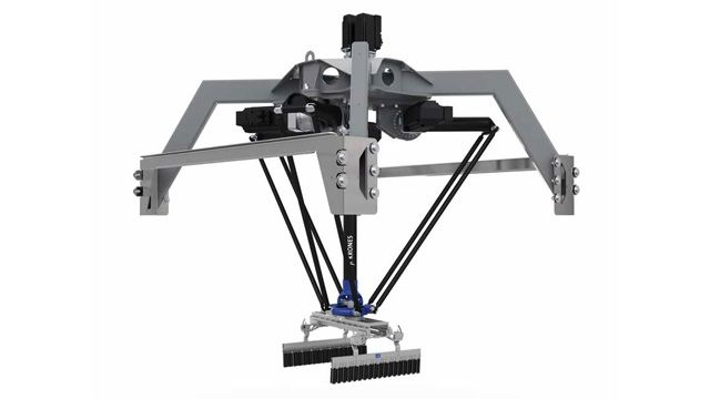 The Krones Robobox T-GM package-handling robot.