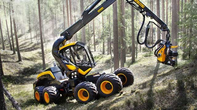 Ponsse's Scorpion wood harvester.