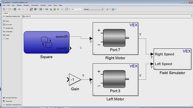 Getting Started with VEX Robotics Using MATLAB and Simulink