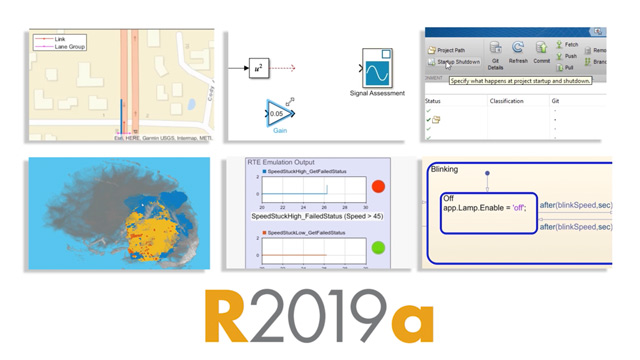 Release 2019a features updates to MATLAB and Simulink, ten new products, and new features for deep learning, systems engineering, automotive capabilities, and much more.
