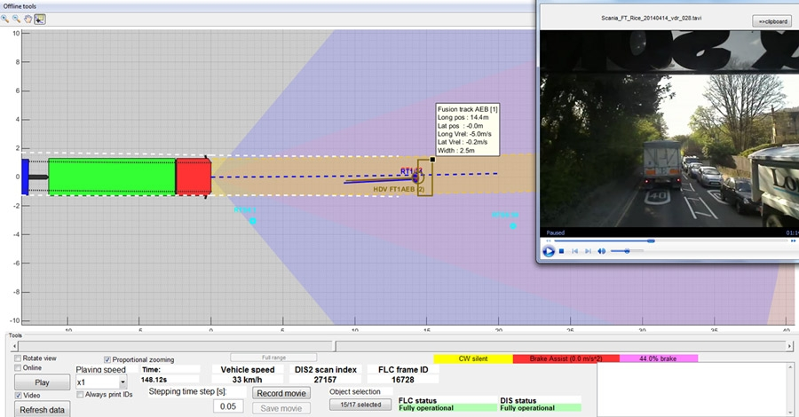 Figure 3. Sensor visualization tool developed in MATLAB.