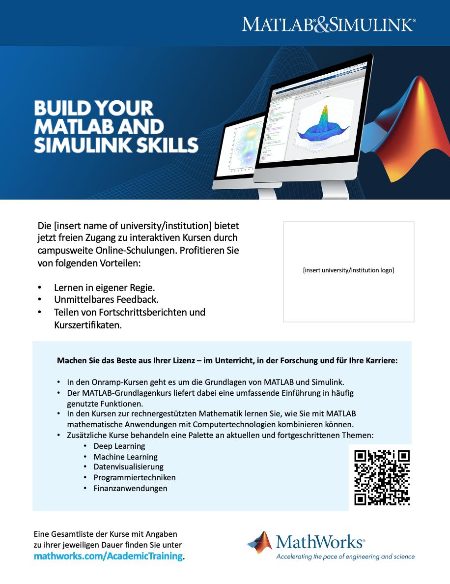 Campusweite Lizenz Onlineschulung Postervorlage 8 ½ x 11