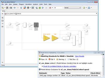 Figure 5. Model Advisor analysis results.