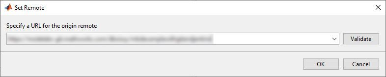 URL for the remote origin