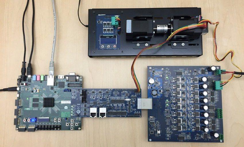 Abbildung 2: Zynq Intelligent Drives Kit II mit optionalem Dynamometersystem (von Avnet Electronics Marketing).