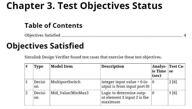 Figure 10. Test generation report.