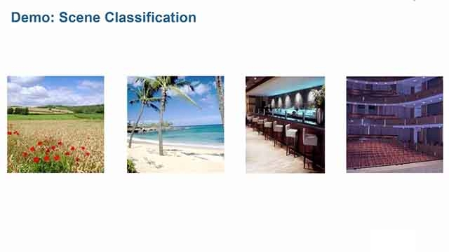 Use machine learning techniques in MATLAB to recognize scenes based on unique features within images.