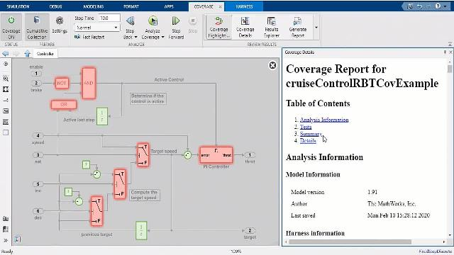 Systematic, requirements-based testing is a critical workflow for high-integrity software development. This video provides an overview for a self-guided example using Simulink verification and validation products.