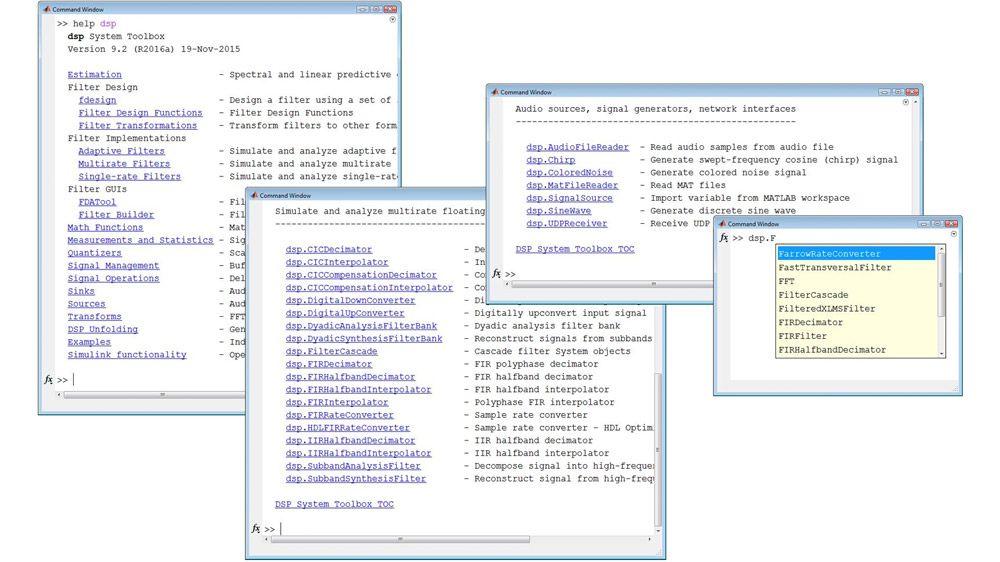 Bibliotheken für Streaming-Signalverarbeitung in MATLAB