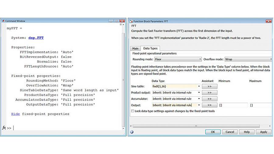 FFT-Eigenschaften für Festkomma-Datentypen