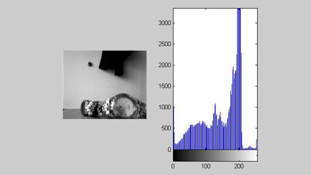 Verwendung der Acquisition Toolbox und der Image Processing Toolbox zum Anzeigen eines Video-Feeds mit Live-Histogramm.