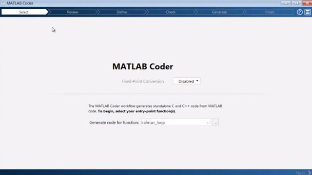 Generieren Sie C und C++ Code aus MATLAB Code mithilfe des MATLAB Coder.