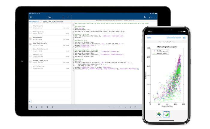 MATLAB Mobile-Verbindung mit der Cloud