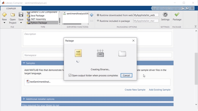 Packaging MATLAB Programs for Scalable Deployment with Python