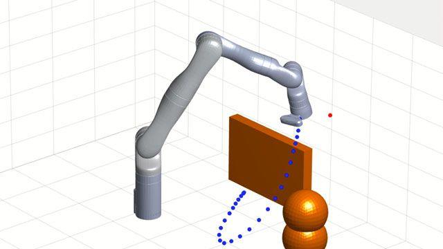 Entwerfen, simulieren und testen Sie Robotik-Anwendungen.