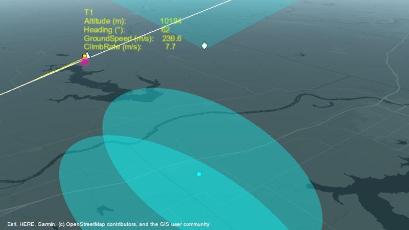 Radargestütztes En-route Tracking von Luftfahrzeugen.