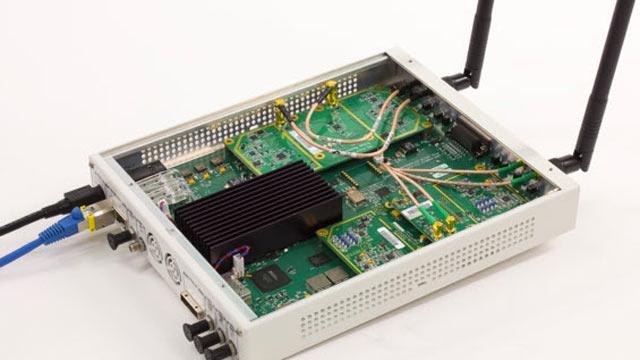 USRP® SDR wurde für den Empfang von 802.11 OFDM-Beacon-Frames verwendet.