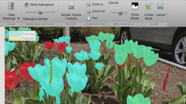 Mit der Bildsegmentierungs-App erhalten Sie eine Vorschau darüber, wie die Bilder nach dem Segmentieren mit einem intensitätsbasierten Ansatz sowie Methoden wie Graph Cut, Kreis-Erfassung und Bereichserweiterung aussehen.