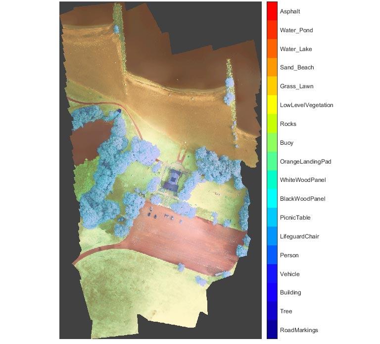 Semantische Segmentierung – multispektrales Satellitenbild