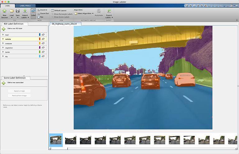 Semantische Segmentierung – Image Labeler-App