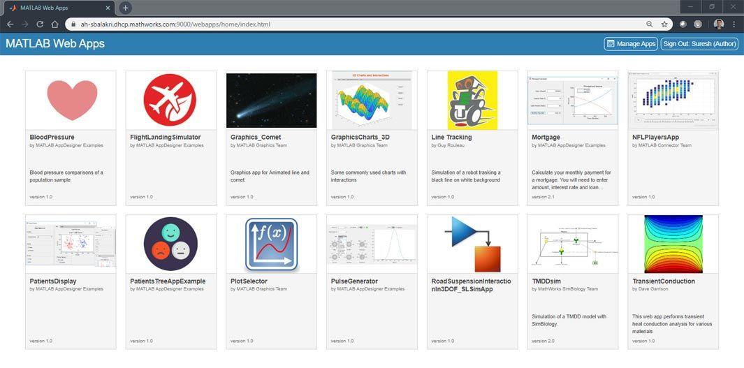 MATLAB Web App Server