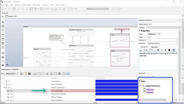 Mit Simulink Requirements finden Sie Anforderungen, die noch keiner Architektur zugewiesen wurden und lernen, welche Architekturelemente potenziell durch Anforderungsänderungen beeinflusst werden.
