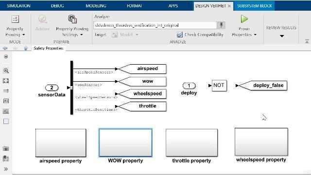 Erfahren Sie, wie Sie mit Simulink Design Verifier die Prüfung von Eigenschaften durchführen und wie Sie ein automatisch generiertes Gegenbeispiel mit dem Model Slicer-Tool von Simulink Check debuggen können.