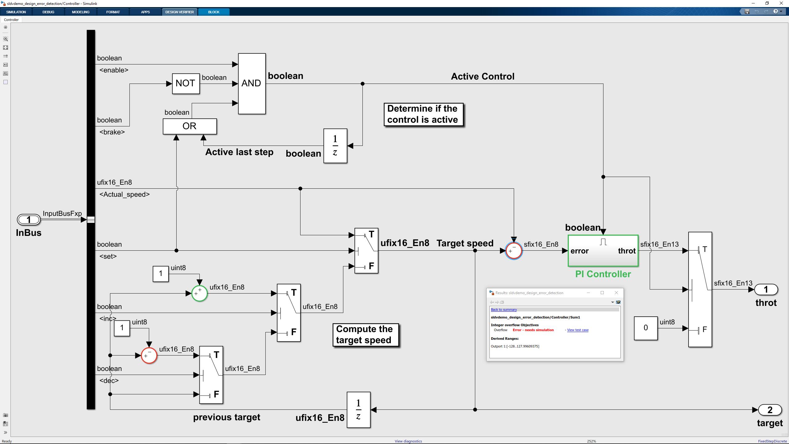 Einstieg in Simulink Design Verifier