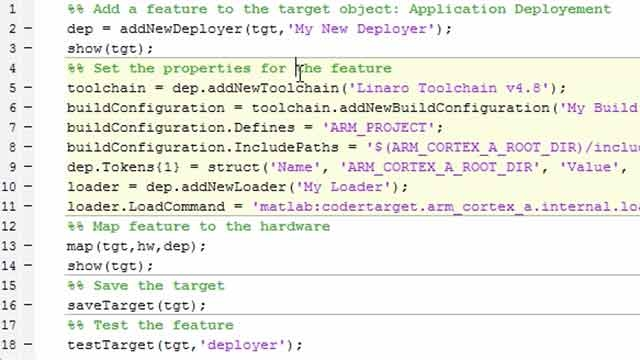 This is part of a series on developing an Embedded Coder target for a hardware platform based on ARM Cortex A processor. In this tutorial, the first feature is added to the target―the application deployment feature.
