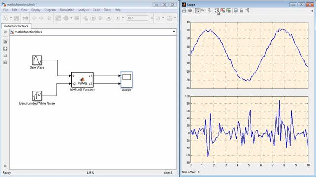 Use MATLAB Function block to incorporate MATLAB code in a Simulink model.