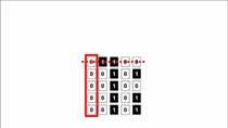 Removing columns and rows arom a binary matrix MATLAB puzzler description
