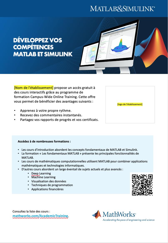 Modèle d'affiche Campus-Wide License Online Training A4