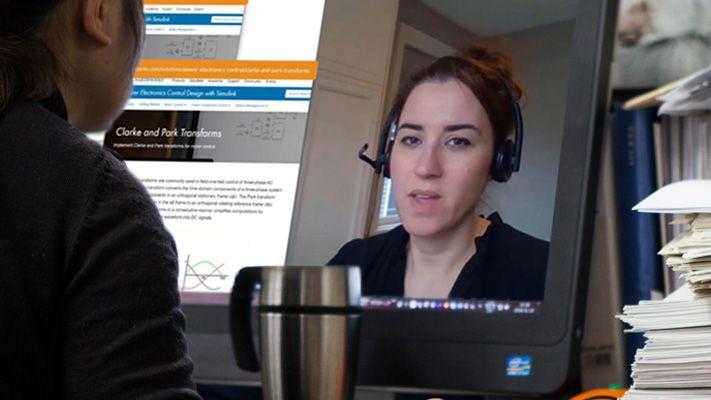 Démo virtuelle lors d'un événement en ligne