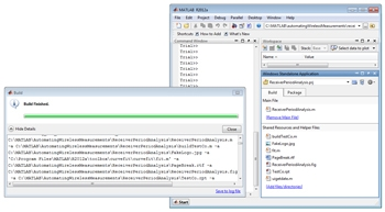 Figure6. MATLAB Compiler GUI for generating standalone executables.
