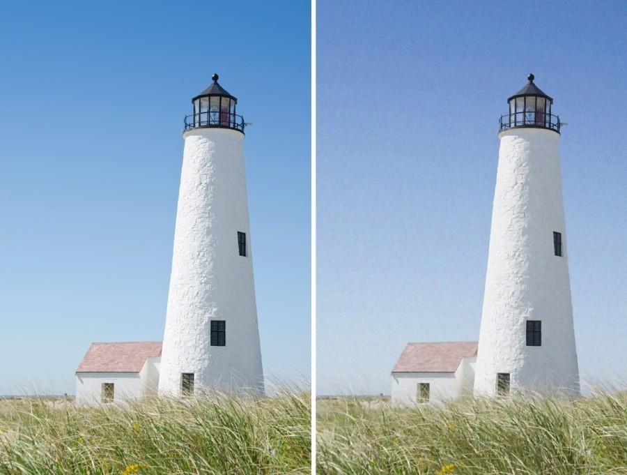 Figure 4. Original (non-noisy) image and denoised image.