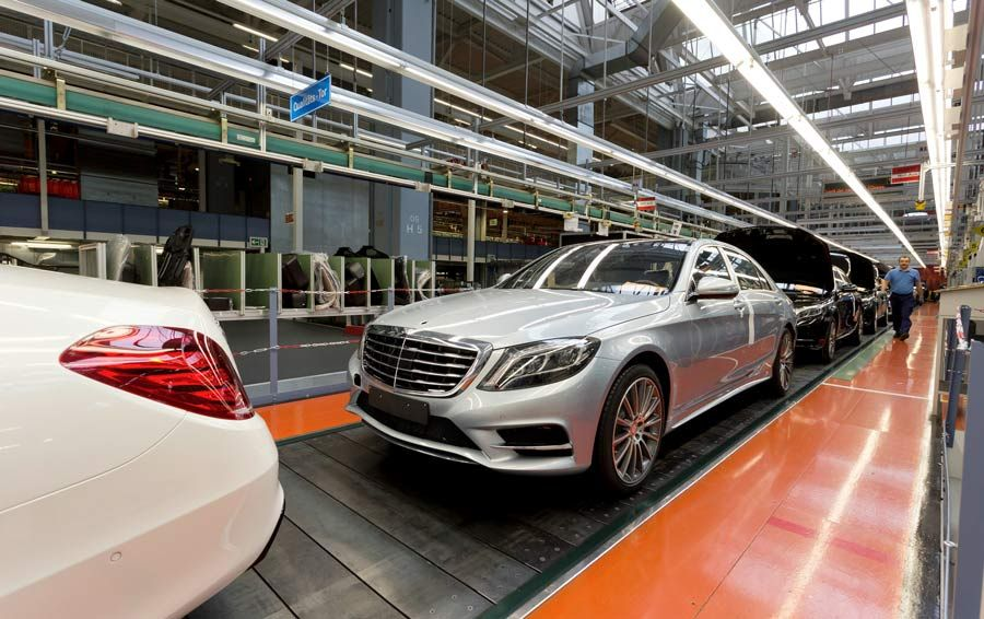 Figure 1.  A Mercedes-Benz S-Class vehicle leaving the assembly line.