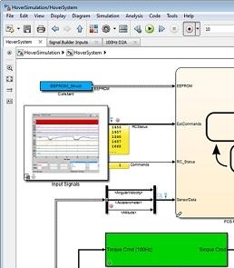 La nouvelle interface Simulink inclut le retour arrière des simulations, une gestion par onglets des fenêtres et une barre d'exploration.