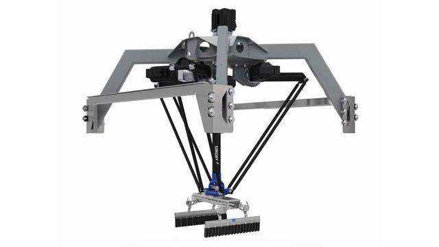Krones développe le jumeau numérique d'un robot de manutention de colis