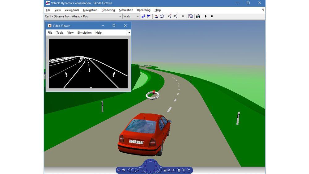 Simulation de la dynamique d'un véhicule.