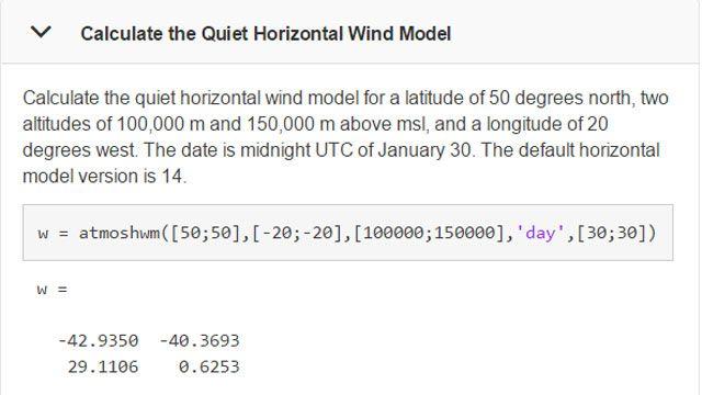 Calculez des modèles de vent pour un lieu et une heure spécifiques.