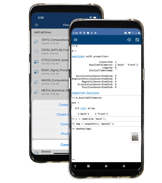Learn and Teach with the MATLAB Mobile App
