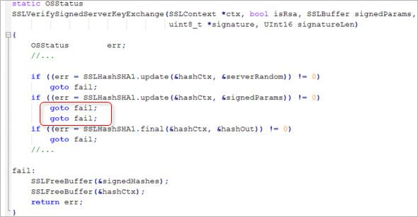 Apple's  sslKeyExchange.c source file snippet