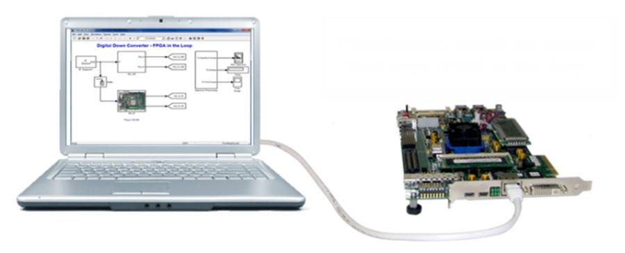HDL Verifier supporte la vérification de type FPGA-in-the-Loop sur des cartes FPGA Xilinx®, Intel® et Microsemi®.