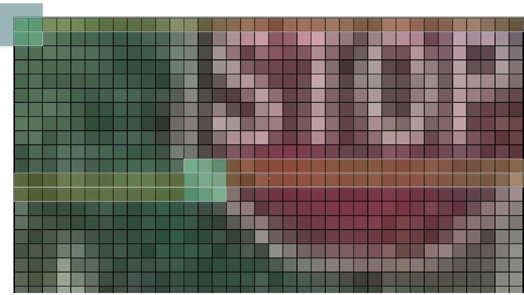 Bufférisation automatique des lignes pour créer une fenêtre ROI pour la détection des contours.