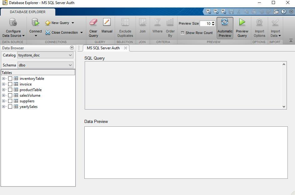 Application DatabaseExplorer