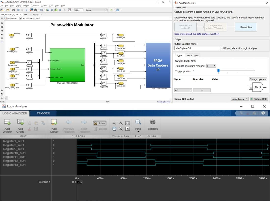 Capture des signaux et chargement dans MATLABpour analyse.