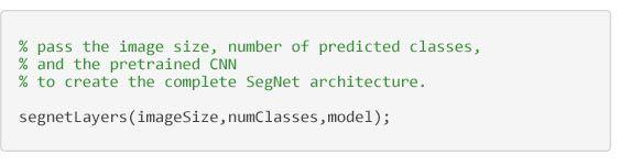 Segmentation sémantique - code pour créer l'architecture SegNet